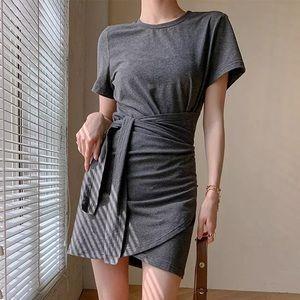 Grey wrap dress size xs